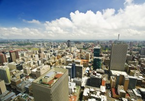 Johannesburg Skyline from top of South Africa