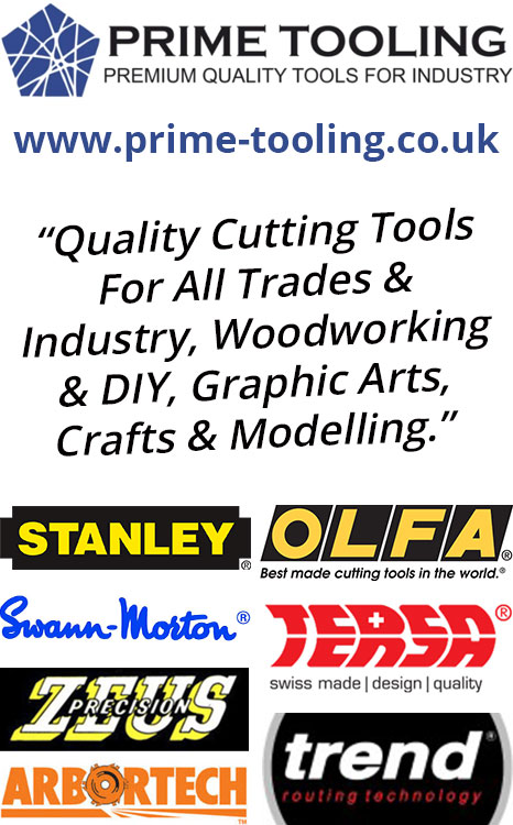 Prime Tooling - Quality Cutting Tools For All Trades & Industry, Woodworking & DIY, Graphic Arts, Crafts & Modelling.